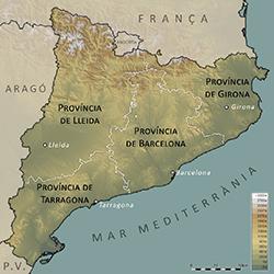 Cartina Catalogna.La Questione Catalana